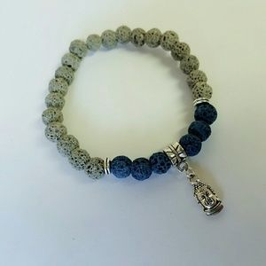 2 for $10 Men's handmade lava bead bracelet